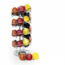 Spiral Coffee Pod Holder Silver Stand for Dolce Gusto Rotating Capsule Dispenser