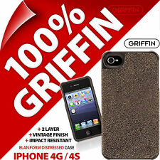 Griffin Elan Coprire Caso Shell FORM effetto anticato finitura in pelle per iPhone 4/4s