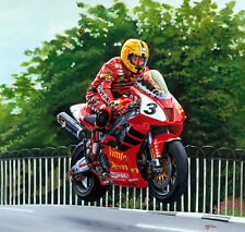 Joey Dunlop HONDA VTR SP1 Isle of Man TT MOTORCYCLE RACING MOTO Art Print