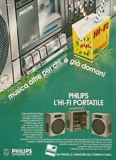 W5558 PHILIPS l'Hi-Fi portatile - Pubblicità 1984 - Advertising