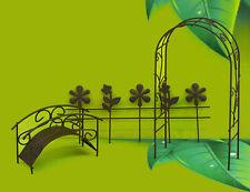 Mini Garten 7210 für Schale Töpfe Terrasse Garten Wohnzimmer Beet Metall Grill