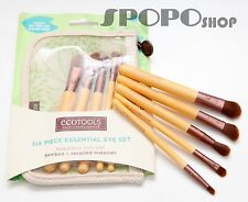 EcoTools 6 Pieces Bamboo Makeup EYE Brush Set (Earth Friendly) 100% Authentic