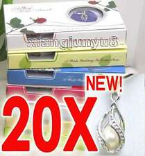 SALE 20X Box helix(drop) pendant Natural Pearl Necklace gift set Box -who120_20
