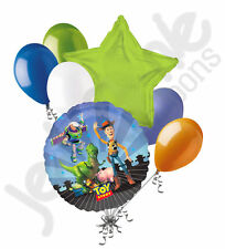 7 pc Toy Story Gang Happy Birthday Balloon Bouquet Party Decoration Disney