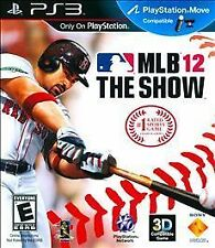 MLB 12: The Show Sony PlayStation 3 PS3 Video Games Free Shipping