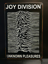 JOY DIVISION UNKNOWN PLEASURES VINTAGE STYLE METAL WALL SIGN  20X30 CM POST-PUNK