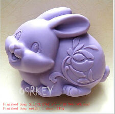rabbit S058 Silicone Soap mold Craft Molds DIY Handmade soap mould