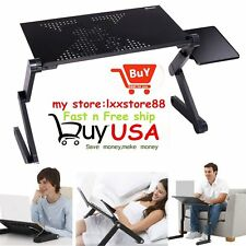 Adjustable Folding Laptop Notebook PC Desk Sofa Table Stand Bed Tray 2017