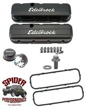 Chevy big block truck TALL BLACK VALVE COVERS with HARDWARE