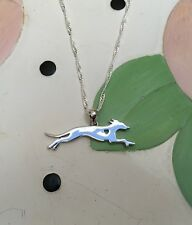 Whippet w/Heart Cutout Sterling Silver Charm & Necklace - New - FREE SHIPPING