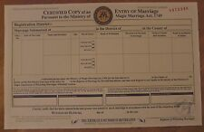Harry Potter - Marriage Certificate - Ministry of Magic