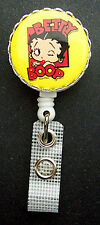 BETTY BOOP Retractable Reel ID Card Badge/Key Holder/Security Ring Yellow