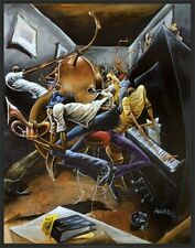 """""""Rent Party"""" by  Frank Morrison - Fine Art Offset Print - African American Art"""