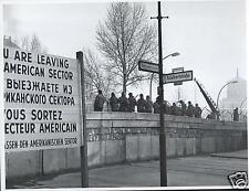 Berlin Wall Checkpoint Charlie Nov 20 1961 US Soviet Tensions, 5x4 inch Reprint