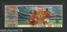 football ticket Man United asia tour 2001