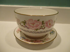 Vintage Royal Worcester Mikado Sugar Bowl & Stand - In excellent condition