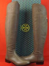 NIB TORY BURCH SIMONE TAUPE GRAIN LEATHER OVER THE KNEE REVA RIDING BOOTS 7.5