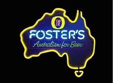 """New Fosters Australian Beer Pub Bar Store Real Glass Neon Sign 17""""x14"""" BE258S"""