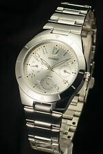 CASIO LTP-2069D-7A2 Ladies Analog Dress Stainless Steel White Watch 100%NEW