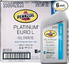 Pennzoil Platinum Euro L 5W-30 Synthetic Motor Oil for Ram Jeep EcoDiesel - Case