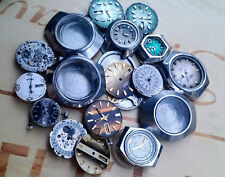 HUGE ORIENT CITIZEN RICOH JAPAN made Watch LOT some TICK ALL 4 PARTS or REPAIR!