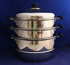 New 3 Tier 30cm Stainless Steel Steamer 21738