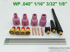 19 pcs TIG Welding Torch Gas Lens parts Kit for WP-9 WP-20 WP-25 WP Tungsten