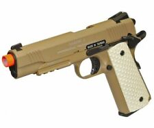 KWA Full Metal M1911 MK II NS2 Gas Blowback Pistol Airsoft Gun - Tan 101-00322