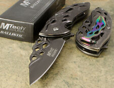 MTECH Executive Ballistic SPRING ASSISTED Open Pocket KNIFE  Stonewash