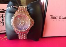 NWT JUICY COUTURE Swarovski WATCH Stella BLING Rose Gold Stainless Steel Crystal