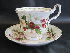 "ROYAL ALBERT ENGL CHINA TEA CUP & SAUCER FLOWER OF MONTH ""CHRISTMAS ROSE""  DEC."