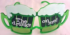 2 Beer Pub Geek Sunglasses Fancy Funky Dress Sun Glasses Novelty Fun Party Nerd
