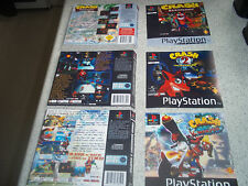 Playstation 1 PS1  Replacement Game Case Art Sleeves/Inlay.REPRODUCTION.NO GAME.