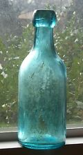 OLD TEIL GREEN BOTTLE SFPGW SAN FRANCISCO & PACIFIC GLASS WORKS 1880 SODA LIQUOR