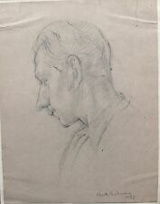 Elspeth Buchanan (1915-2011) Life drawing; male portrait. Signed, dated 1938.