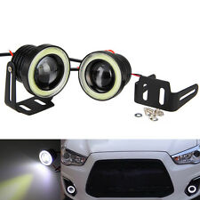 "2x 15W 2.5"" Projector LED Fog Tagfahrlicht  Licht LED Car Halo Angel Eyes Rings"