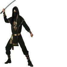 New Adult Man Ninja Warrior Japanese Fancy Dress Costume High Quality L-XL