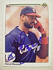 DARYL BOSTON signed WHITE SOX 1990 Upper Deck baseball card AUTO Autographed 529