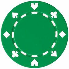 50 Clay Composite Suited 11.5-Gram Poker Chips (GREEN)
