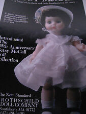 "8"" Betsy McCall Doll MAGAZINE Ad ADVERTISEMENT Only 35th Anniversary Collection"