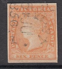 Victoria 1854 SC #17 Woodblock Beautiful Early Impression Four Margin single