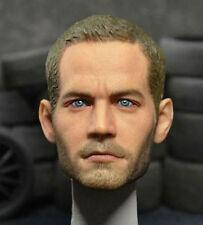 1/6 Scale Paul Walker Head Sculpt For HotToys Narrow Shoulder Body