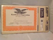 Blumberg Law forms Certificate of Appreciation Blumberg's Law Products 12 Forms