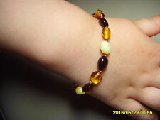 Lot of 10 Baby Teething Mix colour  Genuine Baltic Amber Bracelets 18.24gr. C-23