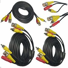 40M BNC Signal Extension Lead AV Video Power Cable DC Security CCTV Camera DVR