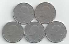 5 Different 1 Krone Coins from Norway (1975, 1976, 1977, 1978 & 1979)