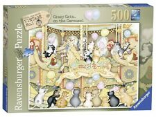 RAVENSBURGER PUZZLE*500 T*CRAZY CATS ON THE CAROUSEL*LINDA JANE SMITH*OVP