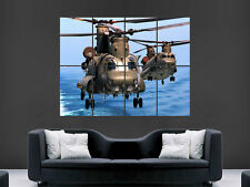 CH47 HELICOPTERS ARMY MILTARY CHINOOK LARGE PICTURE POSTER GIANT HUGE ART