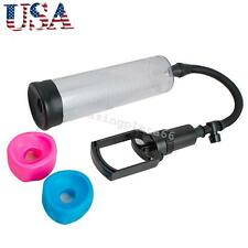 """8"""" POWER Vacuum Penis Pump Male Enhancement Enlargement + 3 Sleeves (S. M, L) US"""