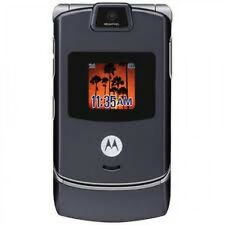 UNLOCKED Motorola RAZR V3xx Cell Phone AT&T Worldwide GSM T-Mobile Camera ~Gray~